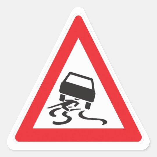Vorsicht Autofahrer Dreieckiger Aufkleber