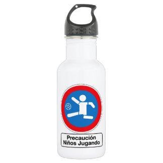 Vorsicht, die Kinder, Verkehrszeichen, Argentinien Trinkflaschen