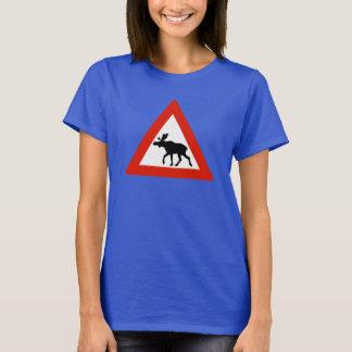 Vorsicht-Elche, Verkehrszeichen, Norwegen T-Shirt