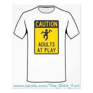 Vorsicht-Erwachsene am Spiel Flyers