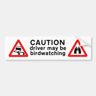 Vorsicht-Fahrer kann Autoaufkleber