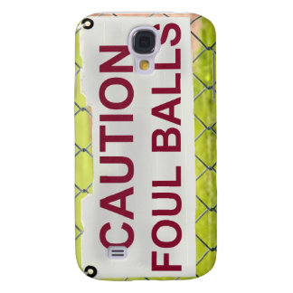 Vorsicht-Foul Ball-Zeichen iPhone Fall Galaxy S4 Hülle