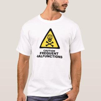 Vorsicht-Gehirn T-Shirt
