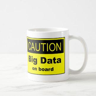 Vorsicht-große Daten an Bord Kaffeetasse
