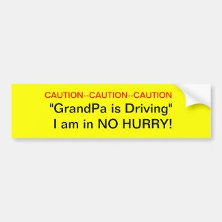 Vorsicht-Großvater-Fahrer-Autoaufkleber Autoaufkleber