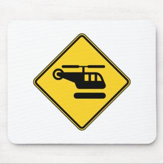 Vorsicht-Hubschrauber-Zeichen Mauspads