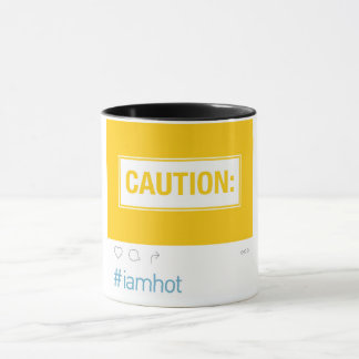 Vorsicht: #iamhot Tasse