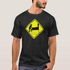 VORSICHT - lustiger Säulengang des T-Shirt