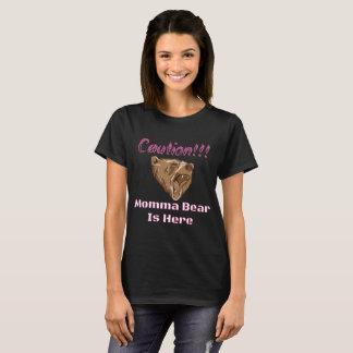 Vorsicht Momma Bärn-Rosa T-Shirt