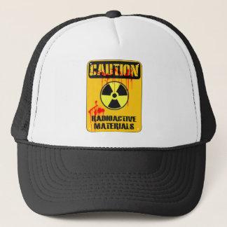 Vorsicht-radioaktives Material Truckerkappe