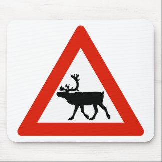 Vorsicht-Rene, Verkehrszeichen, Norwegen Mousepads