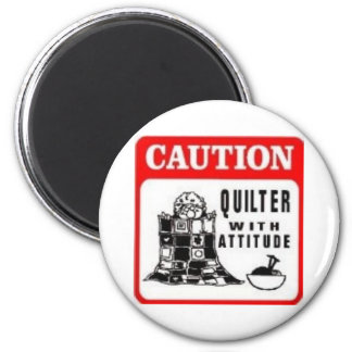 Vorsicht Runder Magnet 5,1 Cm
