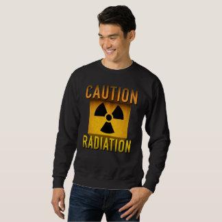 Vorsicht-Strahlungs-Symbol-Retro Sweatshirt