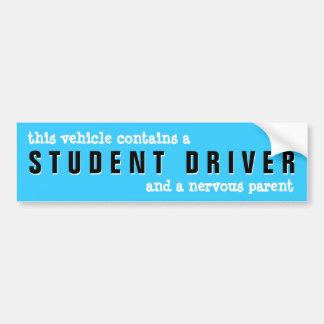 Vorsicht-Studenten-Fahrer-nervöser Elternteil-Aufk Auto Aufkleber