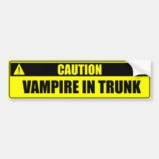 Vorsicht: Vampir im Stamm Autoaufkleber