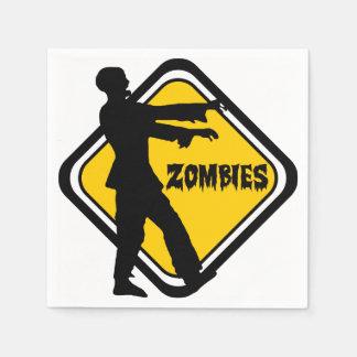 Vorsicht-Zombies Papierserviette