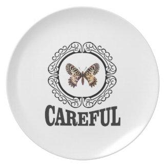 vorsichtiger Schmetterling Melaminteller