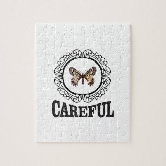 vorsichtiger Schmetterling Puzzle