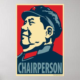 Vorsitzender Mao: Obama-Parodieplakat Poster