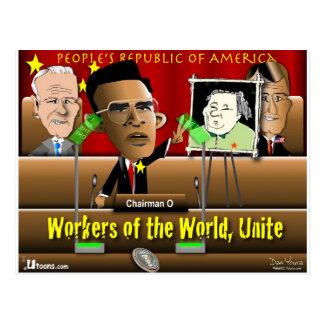 Vorsitzender Obama Postkarte