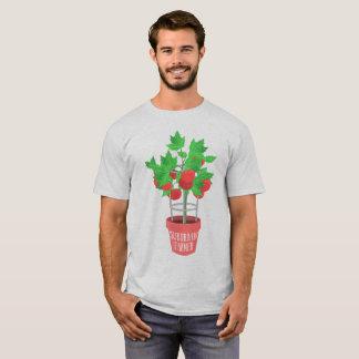 VorstadtBauer-tomate Pflanze, die in einem Topf T-Shirt