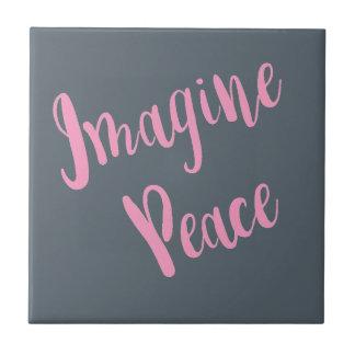 Vorstellen-Frieden-Grafik rosa Art Fliese