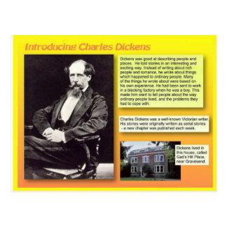 Vorstellen von Charles Dickens Postkarte