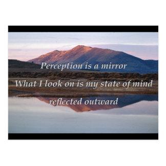 Vorstellung ist ein Spiegel Postkarte