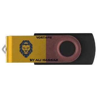 Vortaps Silber, 16 GBs, schwarzes USB USB Stick