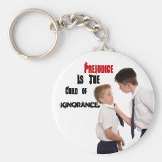 Vorurteil ist das Kind von Ignoranz Standard Runder Schlüsselanhänger