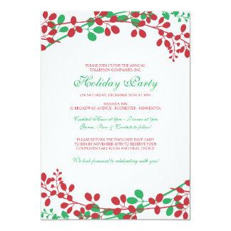 Vorzügliche Garten-Weihnachtseinladung - neu 12,7 X 17,8 Cm Einladungskarte