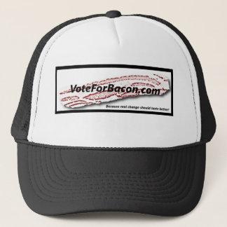 VoteForBacon.com-Fernlastfahrer-Hut Truckerkappe