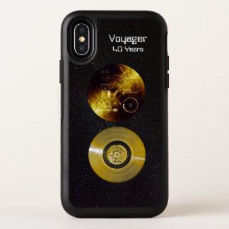 Voyager-goldene Aufzeichnung und Abdeckung OtterBox Symmetry iPhone X Hülle