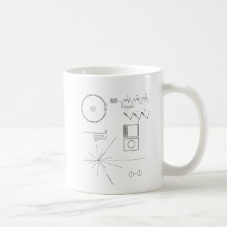 Voyager-Mitteilung Kaffeetasse