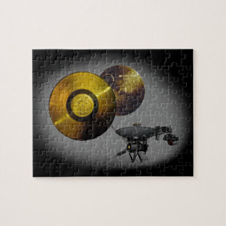 Voyager-Raumfahrzeug und goldene Aufzeichnung bei Puzzle