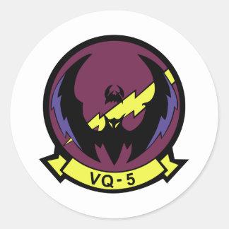 VQ-5 RUNDER AUFKLEBER