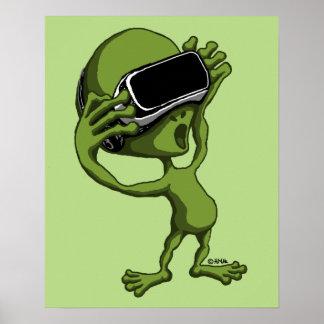 VR alien Poster