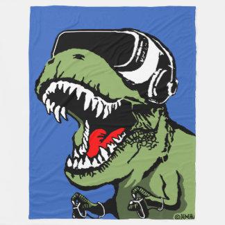 VR T-rex Fleecedecke