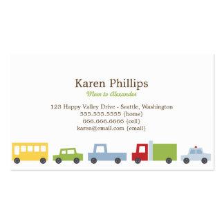 Vroom Vroom Auto-Mama-Karten Visitenkartenvorlagen