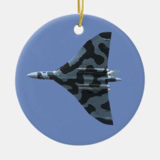 Vulcan Bomber im Flug Keramik Ornament