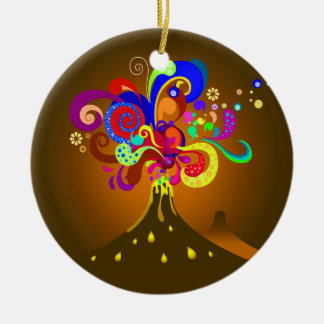 Vulkan-Durchsickern der Farbe Keramik Ornament