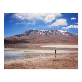 Vulkan in einer Altiplano Landschaftspostkarte Postkarte
