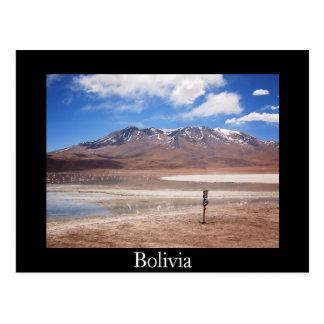 Vulkan in einer Altiplano Postkarte
