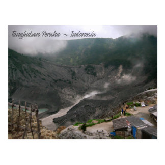 Vulkan-Krater Indonesien Postkarte