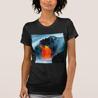 Vulkan-Lavafluss von Kilauea Hawaii T-Shirt