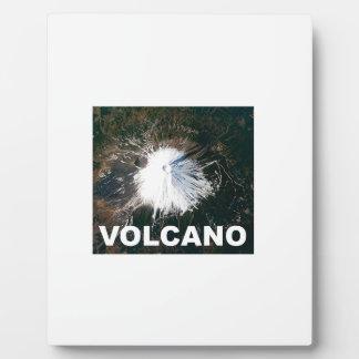 Vulkan von oben fotoplatte