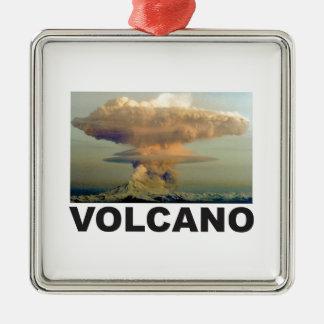 Vulkanbombe Silbernes Ornament
