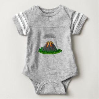 Vulkaneruption und -feuer baby strampler