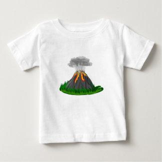 Vulkaneruption und -feuer baby t-shirt