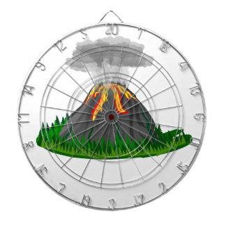 Vulkaneruption und -feuer dartscheibe